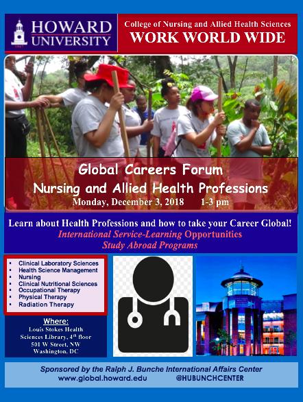 Nursing and Allied Health Global Career Forum | Howard Calendar