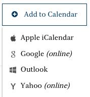 Add to Calendar Options