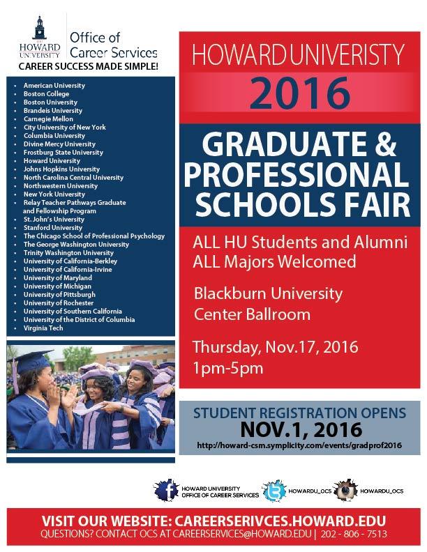 Howard University Graduate and Professional Schools Fair ...