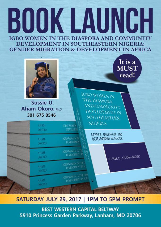 Book launch igbo women in the diaspora and community for Book signing poster template