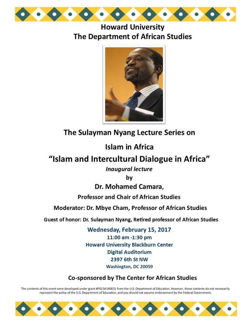 The Sulayman Nyang Lecture Series on Islam in Africa