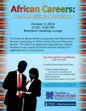 african careers resume critique workshop howard calendar